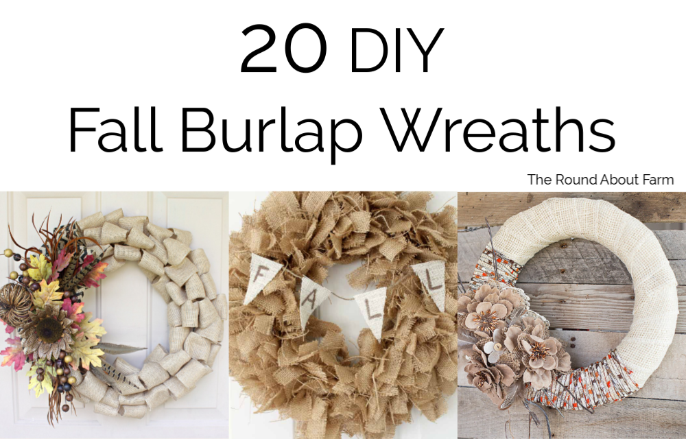 Fall Burlap Wreaths for You to DIY
